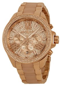 Michael Kors Michael Kors Rose Gold Crystal Pave Boyfriend Luxury Designer Ladies Watch