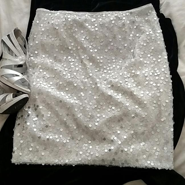 Jones New York Skirt White and Silver