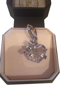 Juicy Couture Juicy Couture Heart Stone Banner Silver