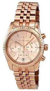 Michael Kors Michael Kors Rose Gold Stainless Steel Ladies Designer Watch