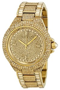 Michael Kors Michael Kors Swarovski Crystal Pave Gold Ion-plated Ladies Luxury Designer Watch