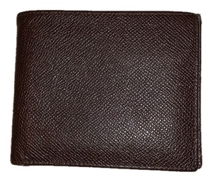 BVLGARI BVLGARI BIFOLD MENS WALLET IN BROWN SAFFIANO LEATHER.