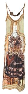 Multicolor/Brown/Beige Maxi Dress by Save The Queen