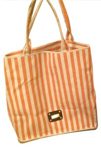 saldrini Tote in orange/cream