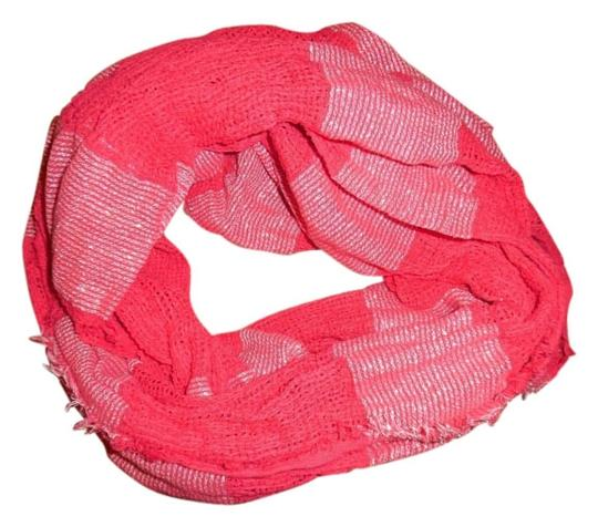 Preload https://img-static.tradesy.com/item/4880233/bp-clothing-pink-white-silver-hot-sparkly-striped-mesh-woven-infinity-scarfwrap-0-0-540-540.jpg