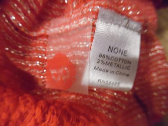 BP. Clothing Hot Pink Silver Sparkly Striped Mesh Woven Infinity Scarf Image 3