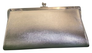 Ande' 50's 60's Vintage Silver Metallic Clutch