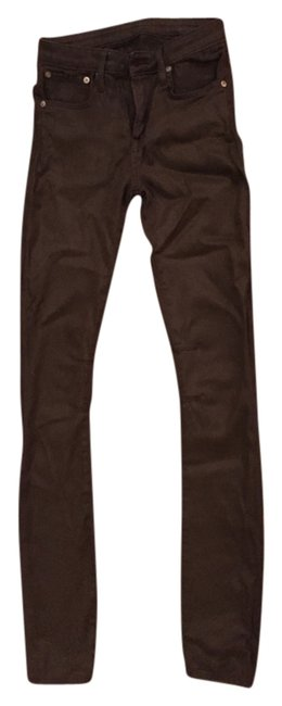 Item - Jungle Green Coated Skinny Jeans Size 24 (0, XS)