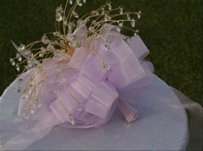 Lavender Gold Bouquet with Lots Of Faceted Crystals Lavender Gold Bouquet with Lots Of Faceted Crystals Image 2