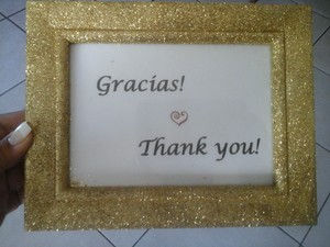 Gold Glitter Sparkling Gift Table Sign