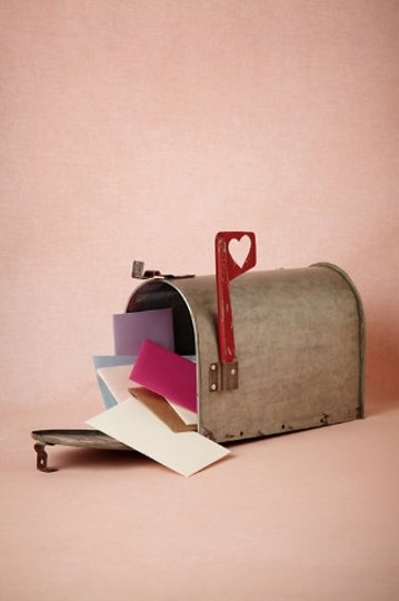 BHLDN Silver Love Letters Mailbox Reception Decoration Image 1