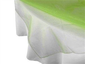 "Green Apple Organza Overlay's 72"" 14 In Quantity"