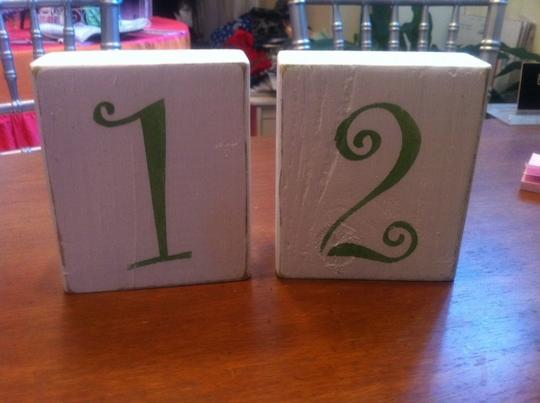 Shabby Chic Table Numbers 1-10
