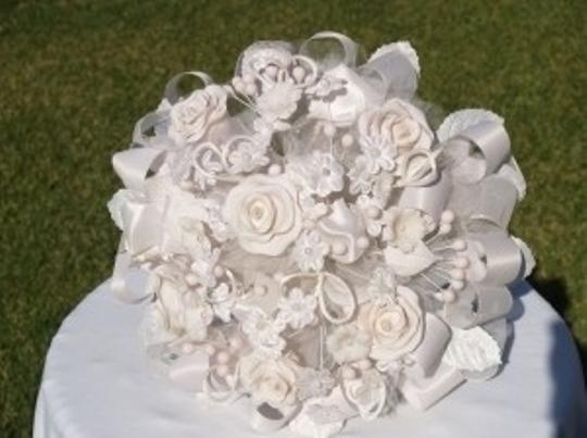 Other Handmade Round Bouquet White and Light Pink