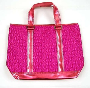 Marc Jacobs Quilted Satin Handbag Fuchsia Tote in Oranges