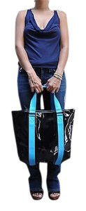 Marc Jacobs Shiny Tote in Blues