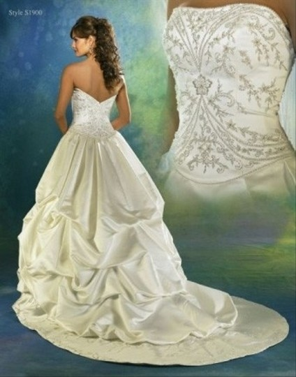 Symphony Bridal White Satin S1900 12 Wedding Dress Size Other