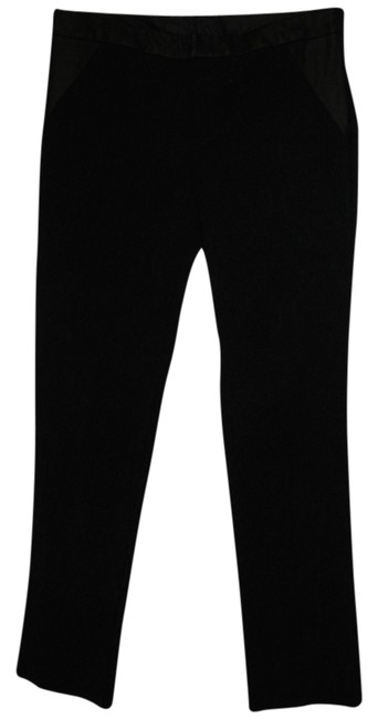 Preload https://img-static.tradesy.com/item/4887409/nicole-miller-black-tapestry-with-faux-leather-trim-straight-leg-pants-size-8-m-29-30-0-0-650-650.jpg