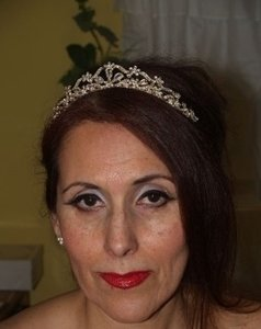 Silver/Unknown Silver/Gold Crystals #7766 Tiara