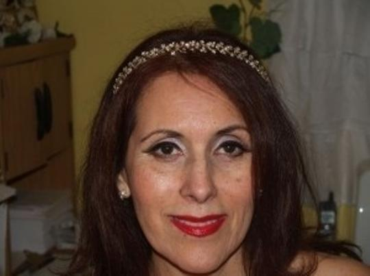 Silver/Yellow Gold Gold/Silver Headband Crystals # 7717 Tiara