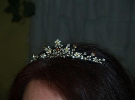 Gold/Yellow Gold Silver Champagne Comb #7886 Tiara