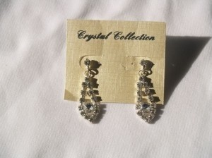 Dangling Earrings Crystals Silver Eas-09