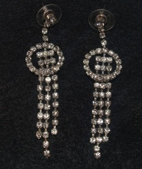 Silver Crystals Earrings Modern Eas-10
