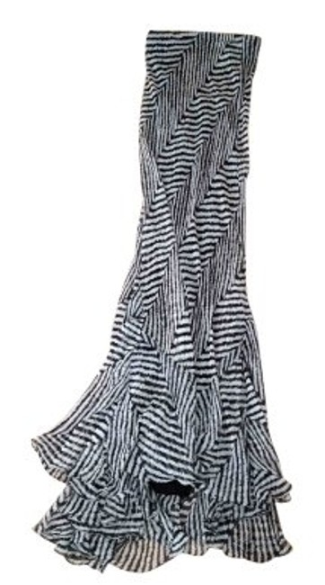 Item - Black and White Long Cocktail Dress Size 4 (S)