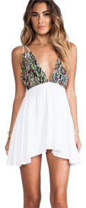 For Love & Lemons short dress (White&Multi-Color) on Tradesy