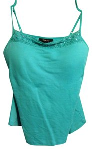 Style & Co Sequin Sequins Crochet Top turquoise
