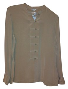 Talbots Button Down Shirt Beige