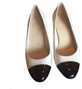 Kate Spade Cream White Black Pumps