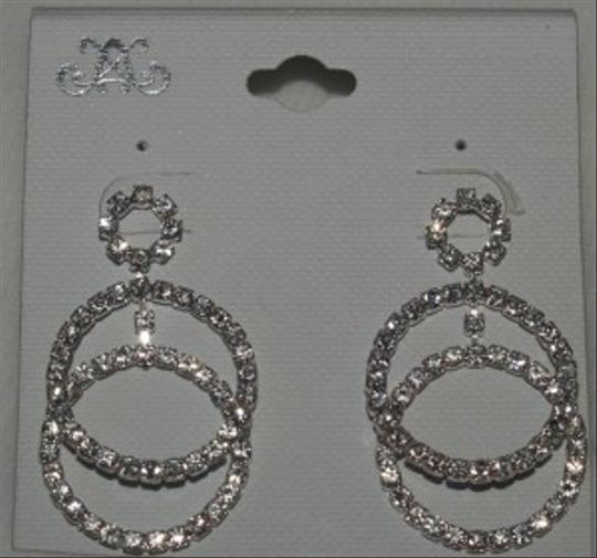 Silver Crystals Earrings