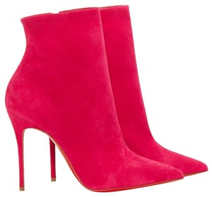 Christian Louboutin Pointed Toe Suede Stiletto Ankle So Kate Kate Pink Boots