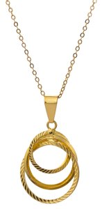Other Inner connected circle pendant Gold Plated Necklace