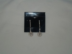 Silver Earrings Crystals Eas-14