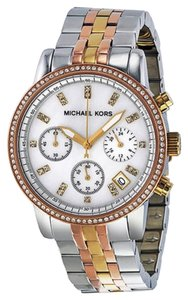 Michael Kors Michael Kors Mother of Pearl Dial Gold Silver Rose Gold Ladies Designer Watch