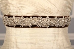 Anne Barge Lf193 B Chocolate Embellished Bridal Sash