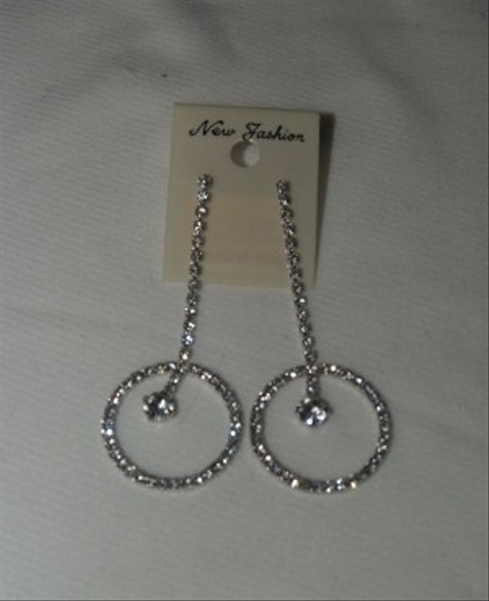 Rhinestones Earrings Long