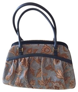 Anthropologie Tapestry Functional Purse Satchel in Blue