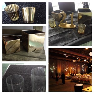 Black And Gold Wedding Decor/centerpieces