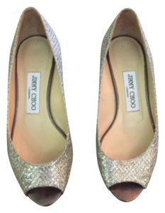 Jimmy Choo Wedding Bergen Silver/gold Wedges