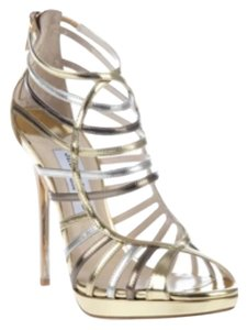 Jimmy Choo Formal Heels Gladiator Gold Sandals