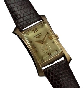 Longines 1950 Longines Vintage Mens Watch, 14K Gold - The Hourglass