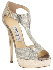 Jimmy Choo Champagne Sandals Jimmy Glitter Champagne silver Platforms