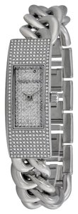 Michael Kors Michael Kors Crystal pave Silver Chain Link Twist Ladies Designer Watch
