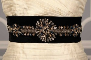 Anne Barge Drew 4149 Black Embellished Bridal Sash