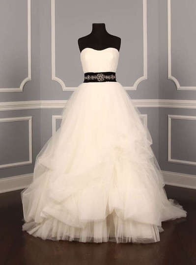 Anne Barge Black with Sapphire & Clear Faceted Crystals Drew 4149 Embellished Sash