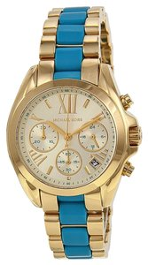 Michael Kors Michael Kors Gold and Blue Sport Ladies Designer Watch