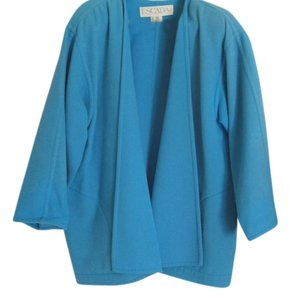 Escada Vintage Top Robin Egg Shell Blue